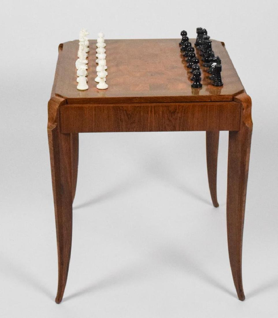 French Art Deco Wooden Game Table - 2