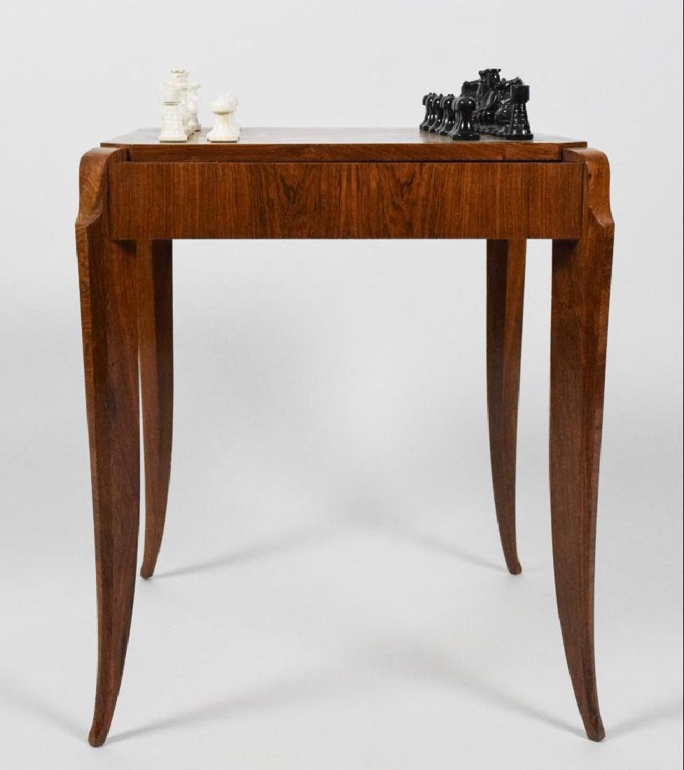 French Art Deco Wooden Game Table - 3