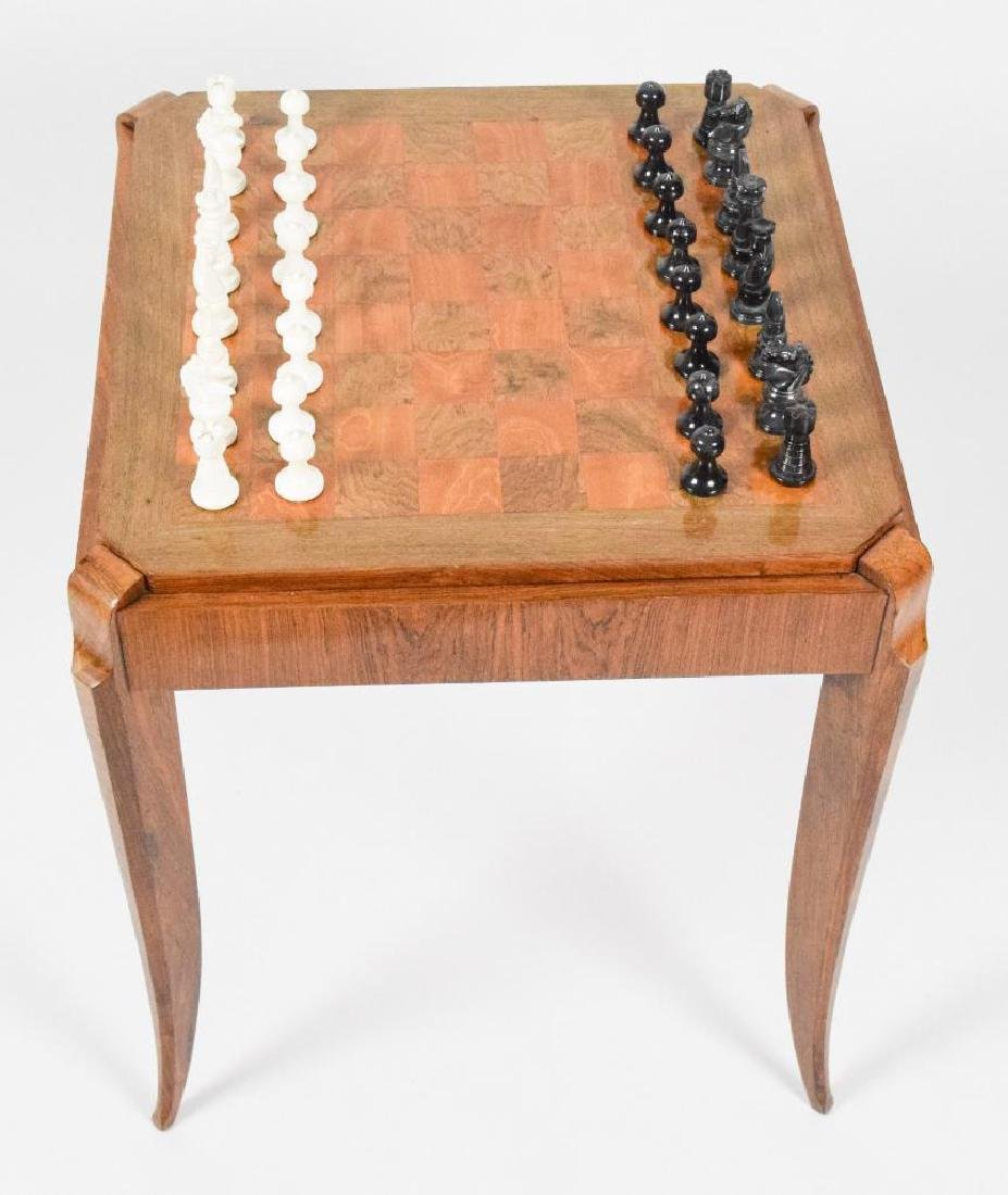 French Art Deco Wooden Game Table - 6