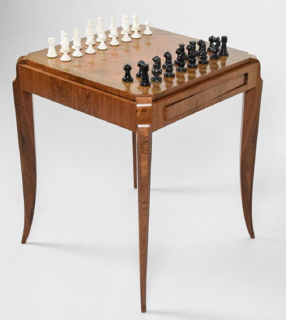 French Art Deco Wooden Game Table - 7