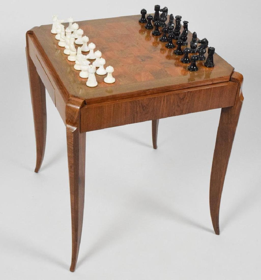 French Art Deco Wooden Game Table - 8