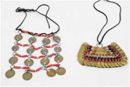 Lot of Two North African Coin Necklaces