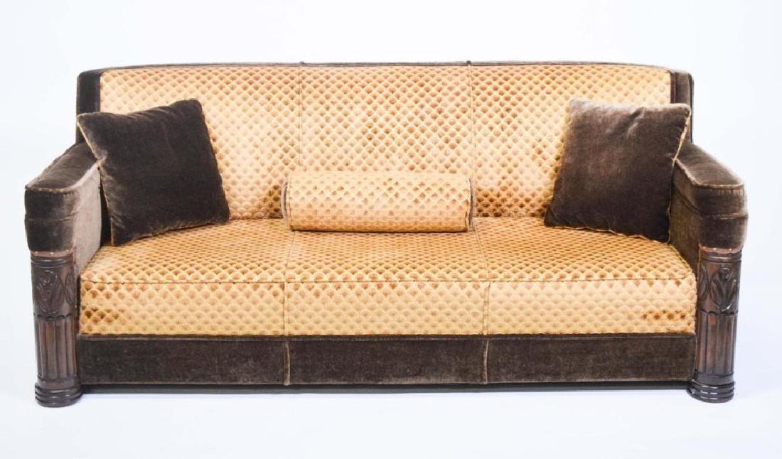 Art Deco Mohair Sofa - 4