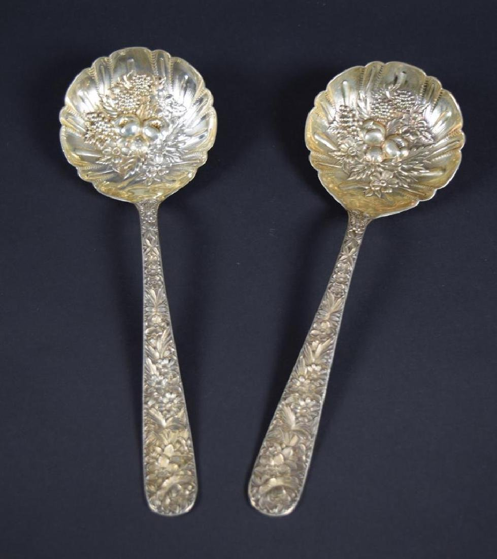 Pair of Sterling Silver Berry Spoons