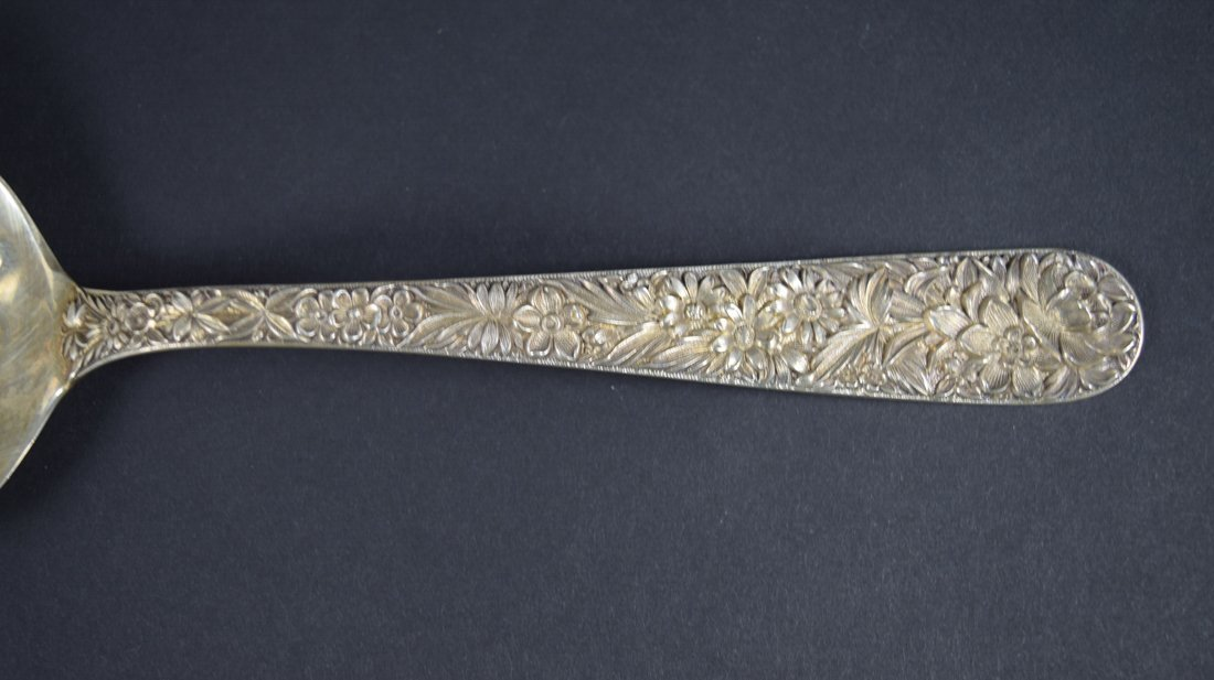 Pair of Sterling Silver Berry Spoons - 4