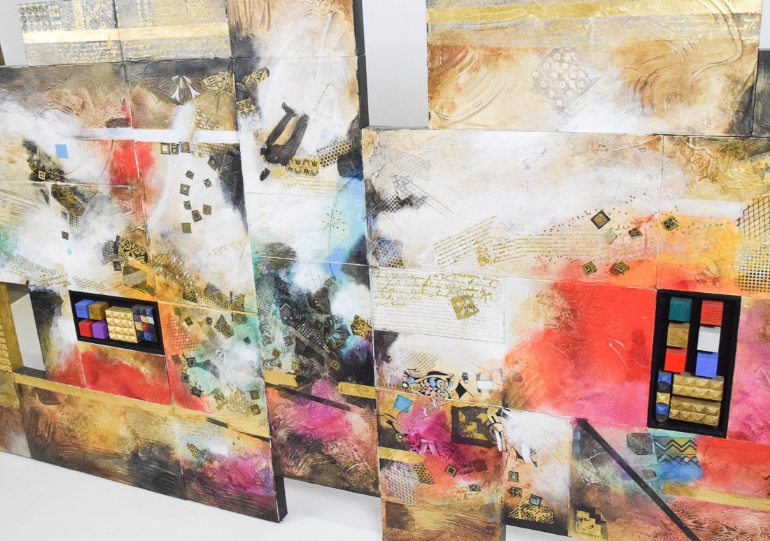 Large Abstract Mixed Media - 10