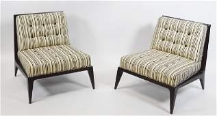Pair of David Edward Striped Chairs