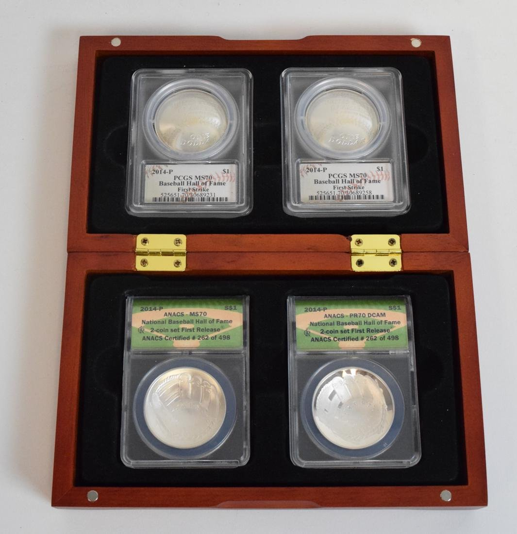 Baseball Hall of Fame Sterling Coins in Box