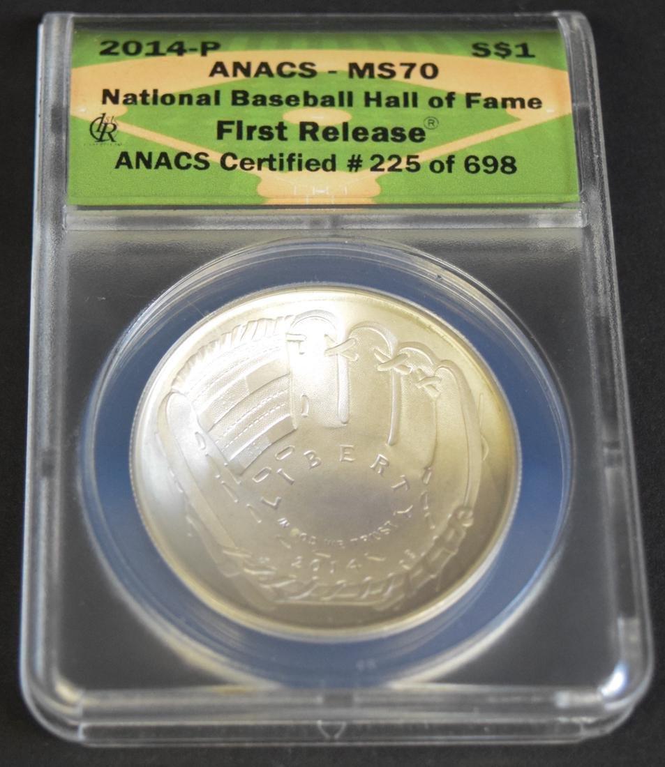 National Baseball Hall of Fame $1 Coin