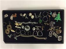 Tray Lot Costume Jewelry approx 20 pcs