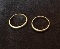 Pair of 18K Gold Buccellati Gold Wedding Rings Size 6