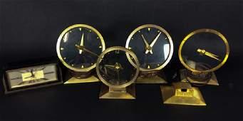 5 Vintage Art Deco Clocks  Haddon and Jefferson Clock