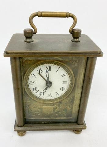 Early French Carriage or Travel Clock