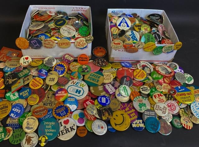 1000 Buttons From the 60's 70's 80's