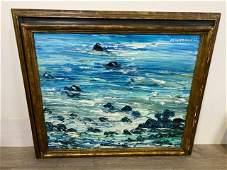 Signed Ann Mittleman Oil on Canvas Seascape