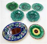 7 Piece Majolica Lot