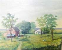 J Vrendenburgh Oil on Canvas Bucolic Scene