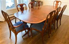 Baker Dining Room Table with 10 Chairs