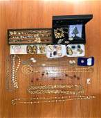 Lot of Costume & Gold Jewelry