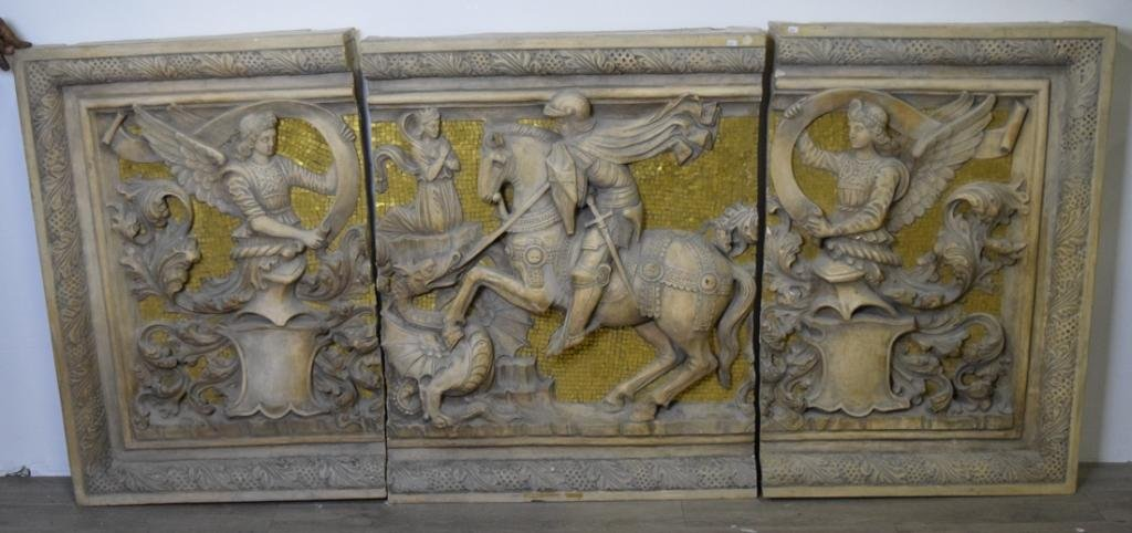 Three Panel Architectural Wall Sculpture