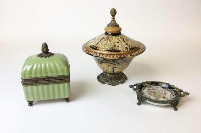 3 Piece Decorative Porcelain Grouping