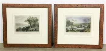 Two W.H. Bartlett Landscape Engravings