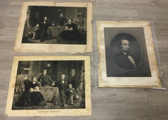 3 Abraham Lincoln Engravings