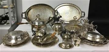 Large Grouping of Silver-plate