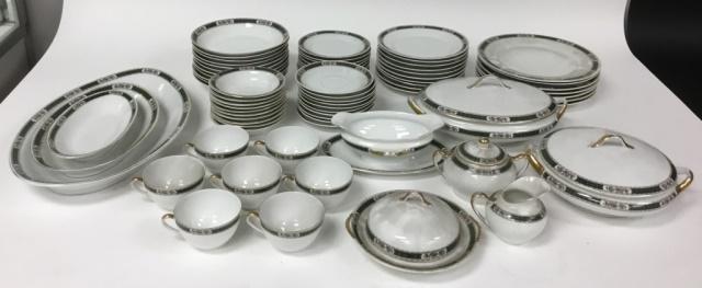 73 Pcs Royal Schwarzburg Jade Pattern Dinnerware