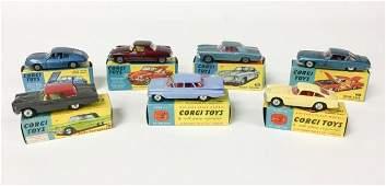 7 Corgi Toys Die-Cast Cars