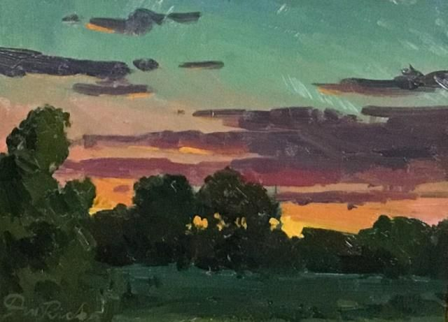 Don Ricks Oil on Board Last Light