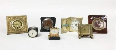 Grouping of Desk & Travel Clocks