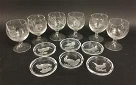 Wildlife Motif Crystal Grouping
