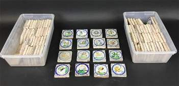 Grouping of Hand Painted Spanish Faience Tiles