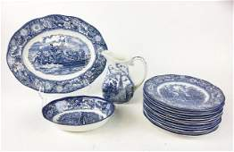Grouping of Staffordshire Liberty Blue