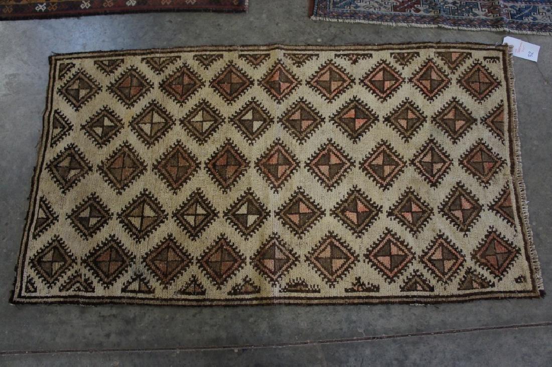 Old Turkaman Handmade Rug 3' X 5'
