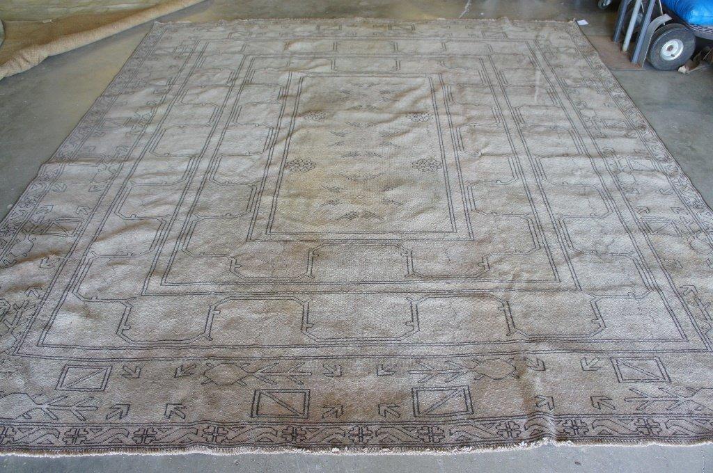 Handmade Old Aushak 9'5'' X 10' Rug