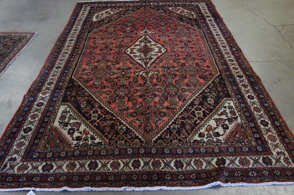 Handmade Malayer 6'7'' X 10'3'' Rug