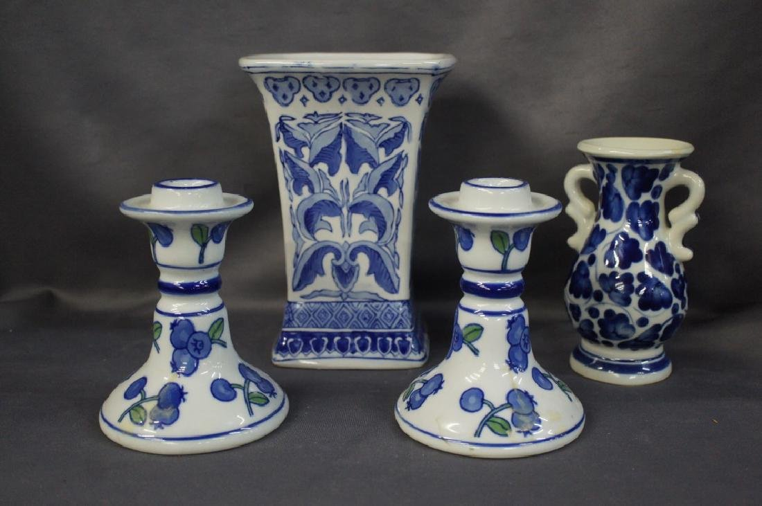 Vintage Blue Willow style glassware
