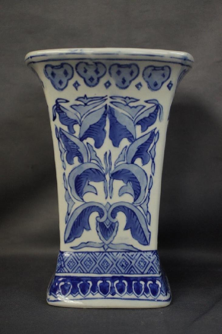 Vintage Blue Willow style glassware - 4