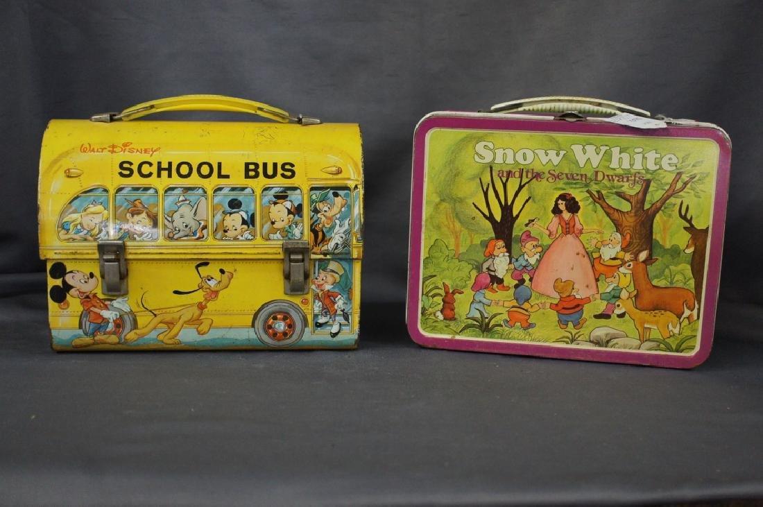 School Bus & snow white lunchbox