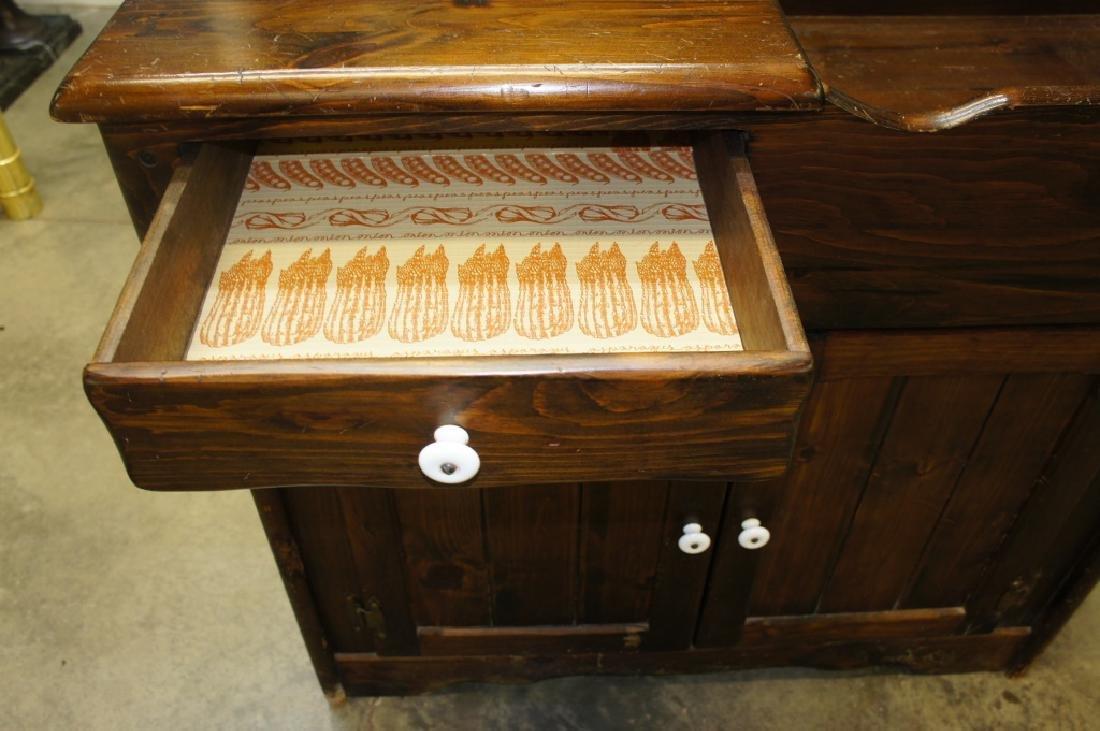 Pine dry sink - 4
