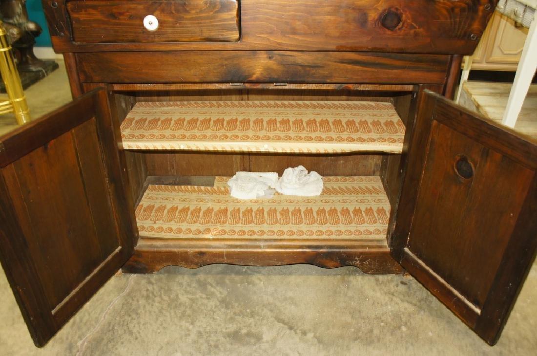 Pine dry sink - 5
