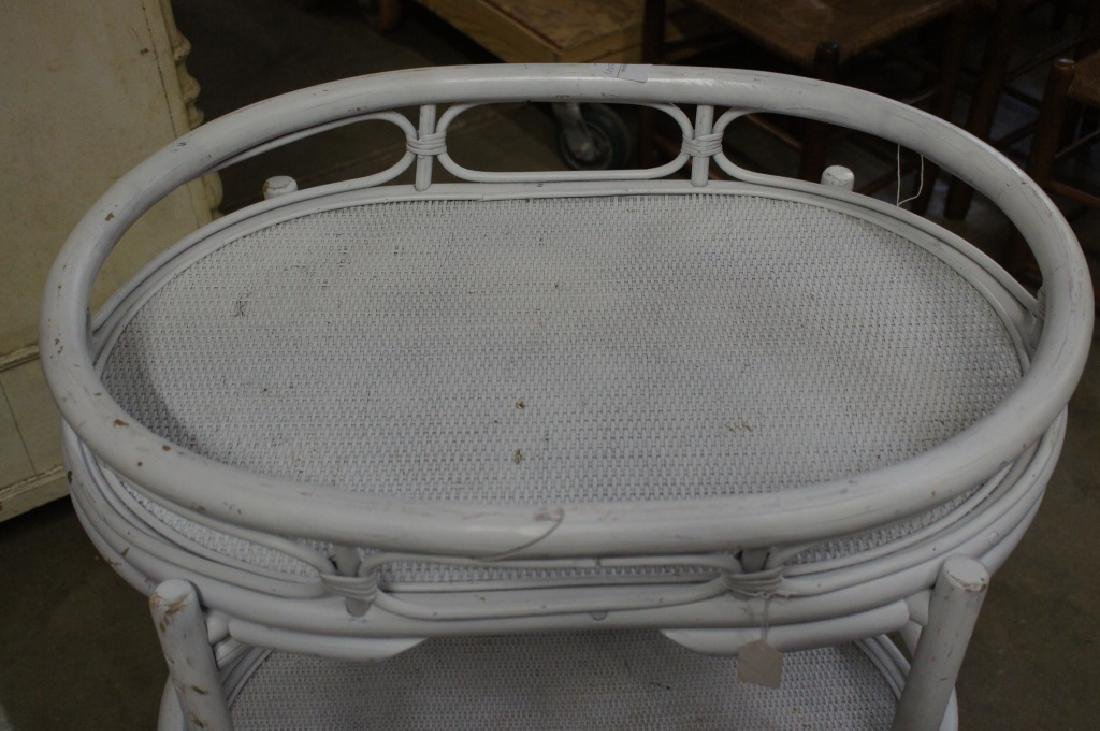 White wicker cart with wheels - 2