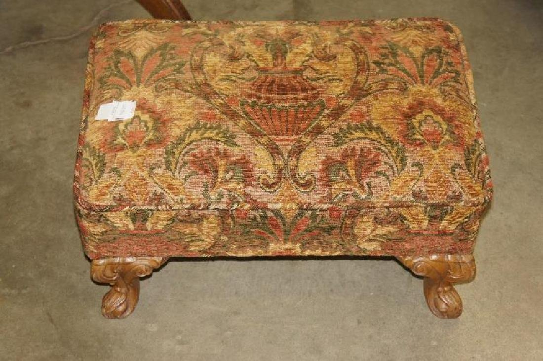 Small Embroidered Foot Stool