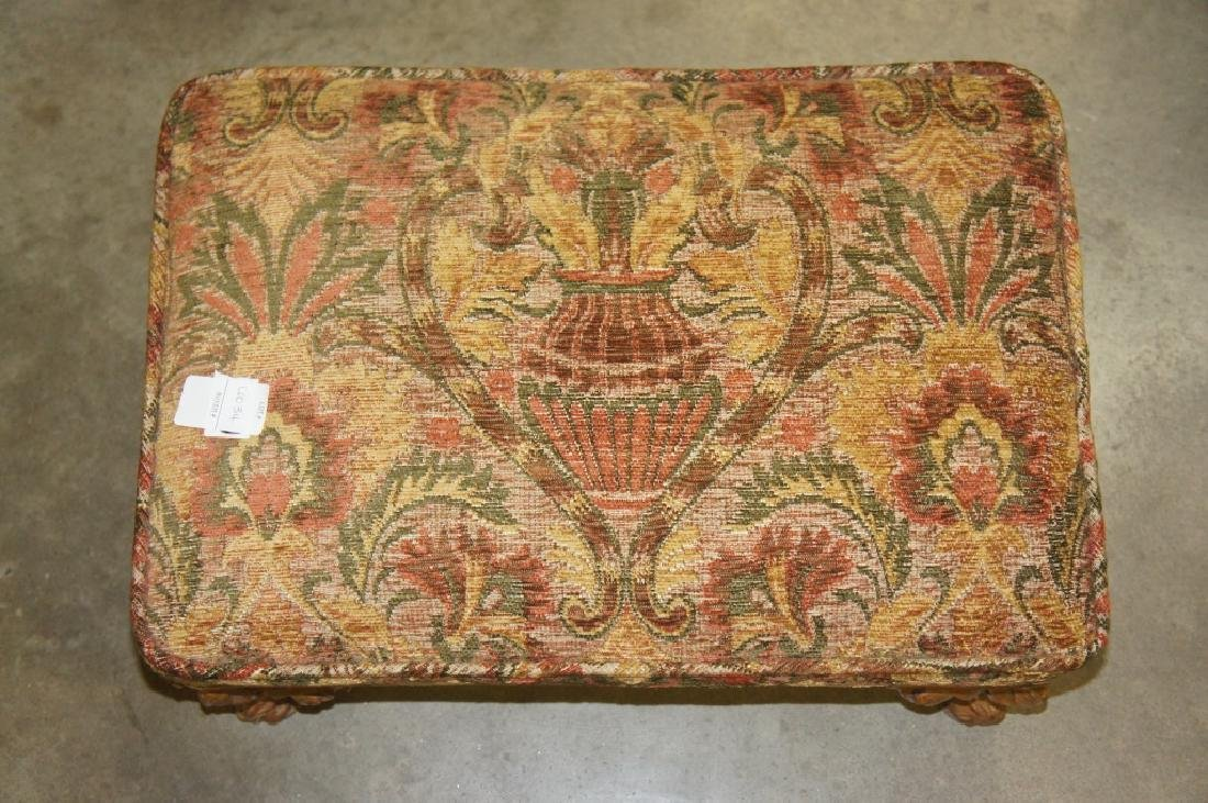 Small Embroidered Foot Stool - 2