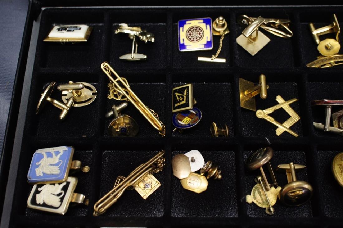 Tray of Military Pins And Masonic Pins / cufflinks - 2