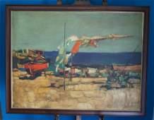 Oil On Canvas Signed Simbari