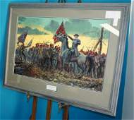 "Mort Kunstler Print ""The Last Rally"""