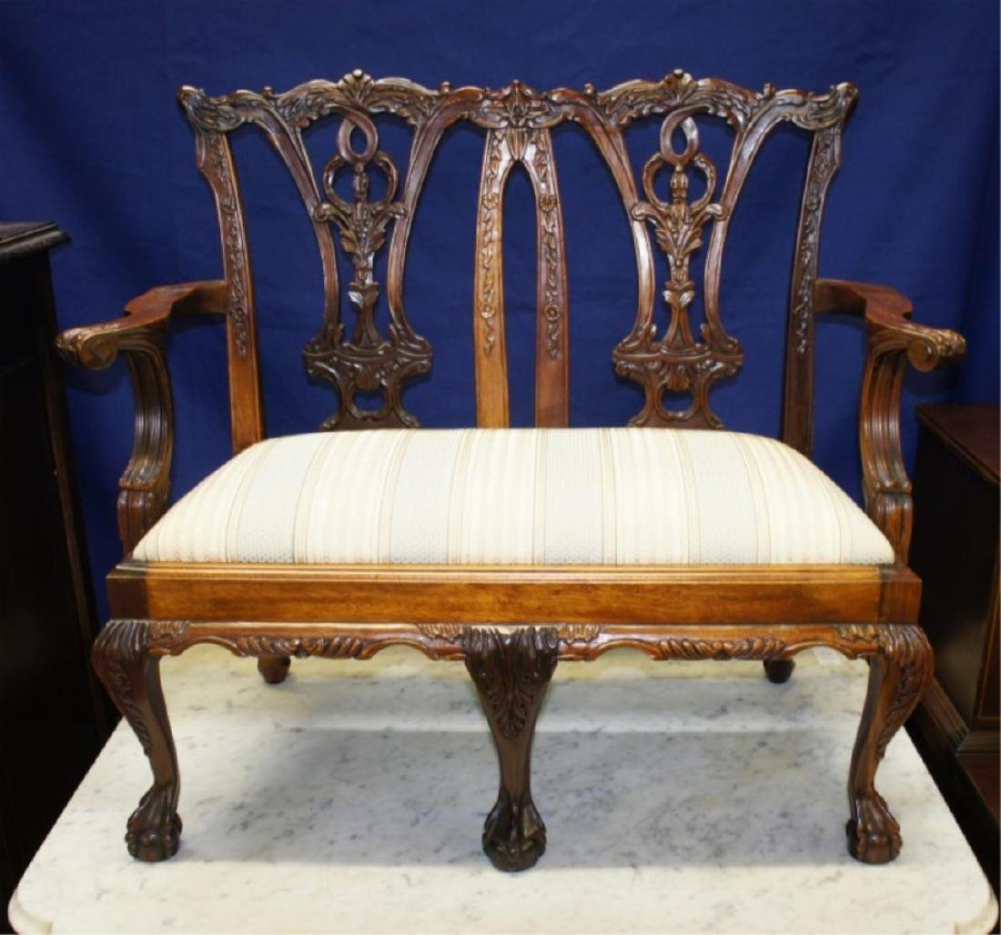 Early Chippendale Child's Ball & Claw Settee